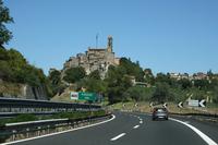 アウトストラーダA1号線「太陽の道」。写真はローマ~フィレンツェ間でのもの。