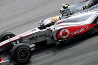 予選で失敗したハミルトン(写真)は、20番グリッドから6位まで挽回(ばんかい)。しかしフォースインディアの壁を切り崩すことはできず。(写真=McLaren)