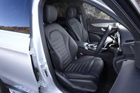 今回のテスト車は、本革仕立てのシート(写真)を装着する、「GLC250 4MATICスポーツ(本革仕様)」。