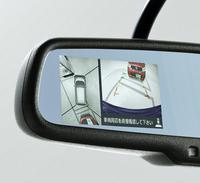 「アラウンドビューモニター」。ルームミラー内に車両周辺の様子が表示される。