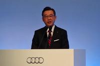 発表会では、2016年1月1日にアウディ ジャパンの社長に就任した斎藤 徹氏があいさつに立ち、「アウディの国内販売は、この先10年伸びていくポテンシャルがあります」などと意欲を示した。