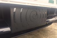 「BMW 3シリーズ」のフロントバンパーにはミリ波レーダーが備わる。