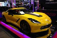 こちらの「シボレー・コルベット」は、名古屋でアメリカ車や海外製ホイールなどの輸入販売を手掛けるショップが出展したものだ。