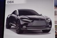 現在、開発が進められているブランド初のSUVモデル「DBX」。2019年の生産開始が予定されている。