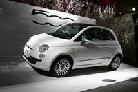 フィアットの人気モデル「500」。アメリカでも輸入を望む声が目立つとか!? 写真は2008年2月、日本におけるデビュー時の様子。