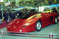 1989年、東京モーターショーの写真から。フェラーリのコンセプトカー「バルケッタMYTHOS(ミトス)」。