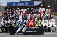 【F1 2006】最終戦ブラジルGP、マッサ母国で優勝、アロンソ2位で2年連続タイトル獲得、シューマッハー4位で引退レース終えるの画像