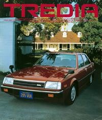 デビュー当時の三菱「トレディア」。スラントノーズ+角形ヘッドライトの顔つきは、当時の世界的なトレンドだった