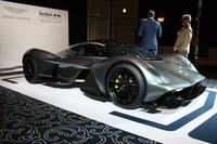 「ヴァルキリー」の原型であり、2016年7月に発表された「AM-RB 001」。写真は2016年10月に日本で初披露されたときのもの。