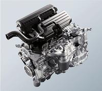「ムーヴ」が搭載するKF型3気筒エンジン。NAの最高出力が52ps/6800rpm、最大トルクが6.1kgm/5200rpm、ターボの最高出力が64ps/6400rpm、最大トルクが9.4kgm/4000rpmという数値は、従来型と変わらない。