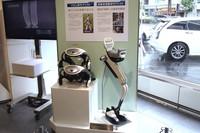 「ASIMO」の技術を応用した歩行アシストロボットなども展示。ホンダはこれらの技術を「Honda Robotics」と呼んでいる。