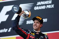 レッドブル・ルノーのセバスチャン・ベッテルはこのレースで3位に入り、2年連続のドライバーズチャンピオンとなった。(Photo=Red Bull Racing)