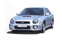 写真上:スポーツワゴン I's スポルト (濃色ガラスはメーカー装着オプション) 写真下:WRX NB (HIDロービームランプ、濃色ガラス、リヤスポイラーはメーカー装着オプション)