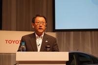 """豊田章男社長は、""""フレンド""""の付くサービス名称がお気に入りとのこと。「トヨタやそのクルマを友だちを思っていただけたら、こんな素晴らしいことはありません」。"""