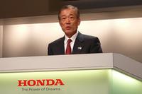 インスパイア発表会と同時に、本田技研工業の福井威夫取締役社長による、年末社長会見も行われた。 2007年の世界販売台数(四輪)は過去最高を記録しつつ、国内販売は前年割れという報告とともに、2008年は4車種の新型車投入が明言された。