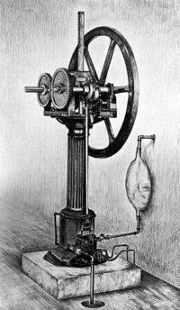 ニコラス・アウグスト・オットーが最初に設計したガスエンジン。(1867年)