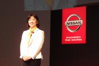 星野朝子 日産自動車専務執行役員(写真)は、スキーが趣味。その点でも「『NV200タクシー』のようなクルマを待ち望んでいた」とのこと。