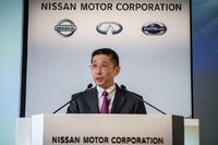 日産自動車の西川廣人CEO。写真は2017年11月8日に、2017年上期の決算を発表したときのもの。