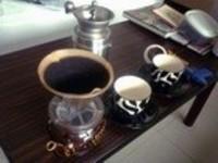 ほとんど自宅! 手挽きミル付きコーヒーセット。