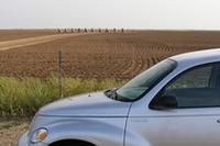 10台並べて畑に埋められている情景は……たしかに異様だ。