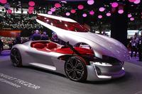 注目のニューモデルが並んだパリモーターショー。一方、「欧州自動車界の、近未来への流れの変化も見られた」とは、現地リポーターのコメント。(photo:望月浩彦)