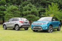 ボディーカラーは全4色。写真の車両の色は、手前が「アトランティックターコイズパールメタリック ブラック2トーンルーフ」、奥が「ギャラクティックグレーメタリック」。