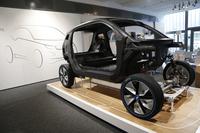 正式デビューが近づいている「BMW i3」。CFRPとアルミからなる革新的なボディーを持つ。