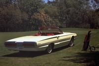 1966年型「フォード・サンダーバード」 「シボレー・コルベット」に対抗してフォードが市場に送り出した高級スペシャルティ・カー。これは4代目で、テールフィンが完全に消えている。