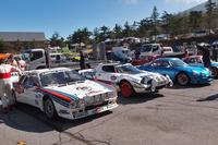 「アルピーヌA110」(写真右端)や「ランチア・ストラトス」(右から2番目)など、往年の名車もちらほら。左に見える「ランチア037ラリー」には、大会参加特別賞が与えられた。