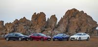 現在のマセラティのラインナップ。この4車種に新型SUV「レヴァンテ」を加えた全5車種で、2015年には年間販売台数5万台の実現を目指す。