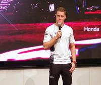 ストフェル・バンドールン。2017年シーズンは、フェルナンド・アロンソとタッグを組み、マクラーレン・ホンダからF1にフル参戦する。