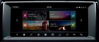 インフォテインメントシステム「InControl Touch Pro」の画面表示。