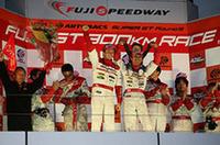 SCデビューイヤーにGT500クラスの栄冠を勝ち取った脇阪寿一とアンドレ・ロッテラー。