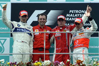 第2戦マレーシアGP、ライコネン復活の1勝【F1 08】