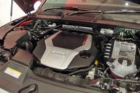 「SQ5」の3リッターV6ターボエンジン。最高出力354ps、最大トルク500Nmを発生する。