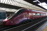 イタリアNTV社の特急「イタロ」。ミラノ・ポルタ・カリバルディ駅で。