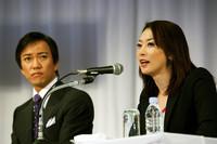 水泳でオリンピックに出場した経験をもつ田中雅美氏(写真右)も出席。商業主義に走り過ぎないことの大切さに言及した。