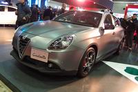 「アルファ・ロメオ・ジュリエッタ」に追加された、最高出力240psの高性能グレード「クアドリフォリオ ヴェルデ」。写真は2015年のオートサロンで発表された限定モデルの「ローンチエディション」。