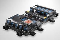 床下に配置されるバッテリーモジュール。
