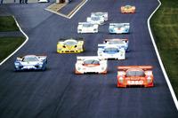 今年の主役はグループCカー。写真はCカー全盛期の1991年鈴鹿1000kmレースのスタートシーン。