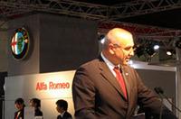 アルファ・ロメオ本社のCEOであるカール・ハインツ・カルプフェル氏。