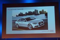 こちらは新型「A6」。2011年後半には上陸予定だという。