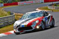 2014年のニュルブルクリンク24時間耐久レースに参戦した「トヨタ86」の競技車両。
