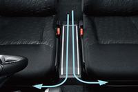 フロントシートウオークスルー機能を搭載しており、前席から後席へのアクセスが簡単にできる。