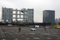 「ACC(アダプティブ・クルーズ・コントロール)」と「PCS(プリクラッシュセーフティ)」の体験試乗が実施される特設コース。