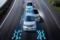「LDW(車線逸脱警報)」とはカメラで道路上の白線を認識し、車線を逸脱しそうになるとドライバーに警告を発する機能。