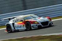 惜しくもクラス2位でレースを終えた、武藤英紀/中山友貴組のNo.16 MUGEN CR-Z GT。
