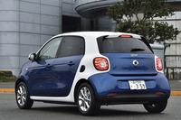 試乗車のボディーカラーはミッドナイトブルー(メタリック)×ホワイト。全8バリエーションが用意される。