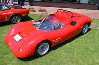 1967年「1300SP」。ミドシップの純レーシングスポーツである1000SPは有名だが、この1300SPは初めて存在を知った。1000SPとはボンネットの形状などが異なる。それはともかく、今はこんなレーシングカーでもナンバーを取得できるんだな。