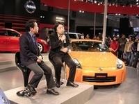 プレスデイには「フェアレディZ」開発責任者の湯川伸次郎氏と、評価ドライバー加藤博義氏のトークショーが行われた。